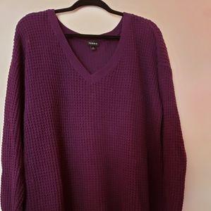 Purple waffle knit sweater